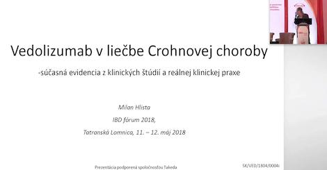 MUDr. Milan Hlista: Vedolizumab v liečbe Crohnovej choroby